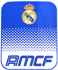 Real Madrid - Club Crest Fade Fleece Blanket - Cover