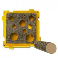 Petstages - Treat Pocket Scratcher with Post (Yellow and Brown) - Cover