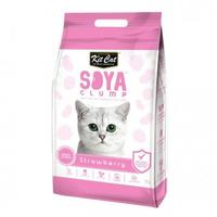 Kit Cat - Clump Clay Soya Cat Litter - Strawberry (2.8kg)