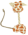 MCP - 12cm Giraffe Rope Cat Toy (White and Brown)
