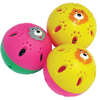 MCP - Ferret Face Jingle Rattling Balls Cat Toy (Pack of 3)
