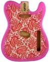 Allparts Pink Paisley Finished Alder Telecaster Replacement Body