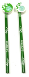 Celtic - Club Crest Checked Pencil & Topper Set (Pack of 2)
