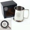 Celtic - Club Crest Glass Base Stainless Steel Tankard