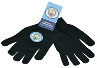 Manchester City - Club Crest Knitted Gloves - Cover