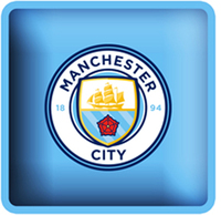 Manchester City - Club Crest Square Cushion - Cover