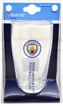 Manchester City - Wordmark Club Crest Pint Glass