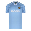 Manchester City - 1982 Retro Mens Sky Blue Shirt (Large)