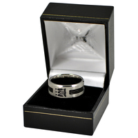 Manchester City - Club Crest Black Inlay Ring (Large) - Cover