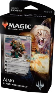 Magic: The Gathering - Core Set 2019 Planeswalker Deck - Ajani, Wise Counselor (Trading Card Game) - Cover
