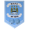 Manchester City - Club Crest Key Hanging Hooks Pennant