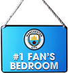 Manchester City - No 1 Fan Bedroom Sign