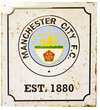 Manchester City - Retro Logo Sign