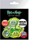 Rick and Morty - Button Badges