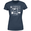 Magic The Gathering - Card Grid Women's Navy T-Shirt (Large)