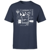 Magic The Gathering - Card Grid Men's Navy T-Shirt (Large)
