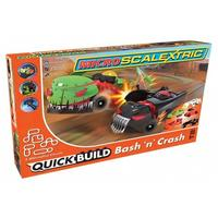 Scalextric - Micro Scalextric QUICK BUILD Bash 'n' Crash Slot Cars Set