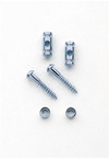 Allparts Electric Guitar Barrel String Guides (Chrome)
