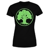 Magic The Gathering - Green Mana Women's Black T-Shirt (Large)