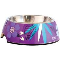 Rogz - 2-in-1 Large 700ml Bubble Dog Bowl (Purple Forest Design)