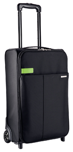 Leitz Complete 15.6 Inch 2-Wheel Carry-On Trolley Smart Traveler Notebook Bag - Black