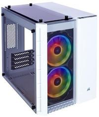 Corsair - Crystal Series 280X Tempered Glass Micro ATX RGB Computer Chassis - White