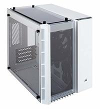 Corsair - CC-9011136 Crystal Series 280X Tempered Glass Micro ATX RGB Computer Chassis - White