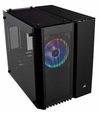 Corsair CC-9011135-WW 280X Crystal RGB Tempered Glass Micro ATX Computer Chassis - Black