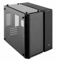 Corsair CC-9011134-WW 280X Crystal Tempered Glass Micro ATX Computer Chassis - Black