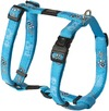 Rogz - Fancy Dress Extra Large 25mm Armed Response Dog H-Harness (Turquoise Paw Design)