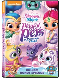 Shimmer and Shine: Playful Pets of Zahramay Falls (DVD) - Cover