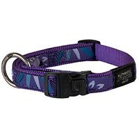 Rogz - Fancy Dress Extra Extra Large 40mm Special Agent Dog Collar (Purple Forest Design)