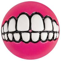 Rogz - Grinz Medium 64mm Dog Treat Ball (Pink)