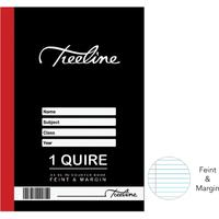 Treeline - 1 Quire A4 Hard Cover Book - Feint & Margin - 96 Page (Pack of 10)