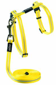 Rogz - Catz 11mm AlleyCat Reflective Cat Lead and H-Harness Combination (Dayglo Yellow) - Cover