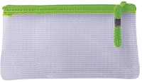Treeline - Mesh Pencil Bag with Green Zip - 22cm (Pack of 1) - Cover
