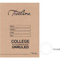 Treeline - A4 College Exercise Book  72 pg Unruled