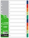 Treeline - A4 Index 1 to 10  Printed PVC Divider (Box of 10)
