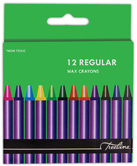 Treeline - Regular Wax Crayons 12 Piece (Box of 10) - Cover
