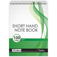 Treeline - A5 Top Bound 100 pg Short Hand Note Book Feint (Pack of 10)