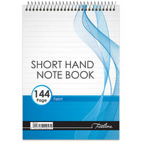 Treeline - A5 Top Bound 144 pg Short Hand Note Book Feint (Pack of 10)