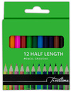 Treeline - Pencil Crayons 12's Half Length (Pack of 12)