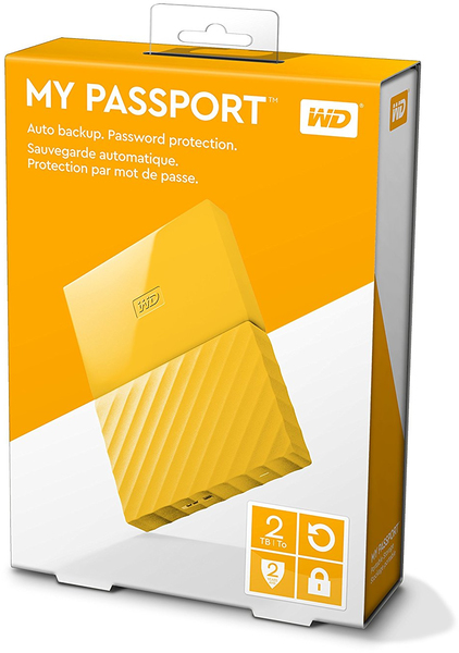 WD - My Passport 2TB Portable USB 3 0 External Hard Drive (Thin) - Yellow