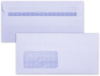 LEO - DLB Self Seal Envelopes with Window - White Opaque (Box of 500) - Cover