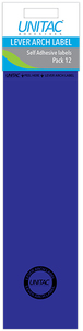 Unitac - Lever Arch Labels - Blue (Pack of 12) - Cover
