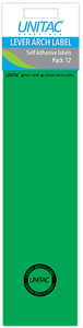 Unitac - Lever Arch Labels - Green Pack of 12 (Box of 10) - Cover