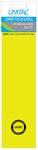 Unitac - Lever Arch Labels - Yellow Pack of 12 (Box of 10)