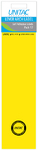 Unitac - Lever Arch Labels - Neon Yellow Pack of 12 (Box of 10)