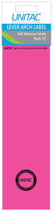 Unitac - Lever Arch Labels - Neon Pink (Pack of 12) - Cover