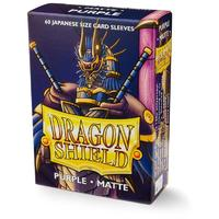 Dragon Shield - Japanese Size Sleeves - Matte Purple (60 Sleeves)